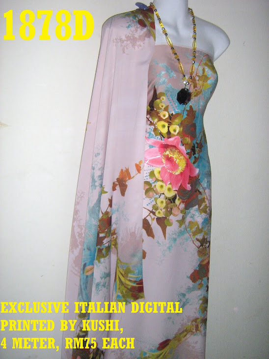 EID 1878D: EXCLUSIVE ITALIAN DIGITAL PRINTED, CANTIK, LEMBUT, SEJUK DAN SELESA, 4 METER