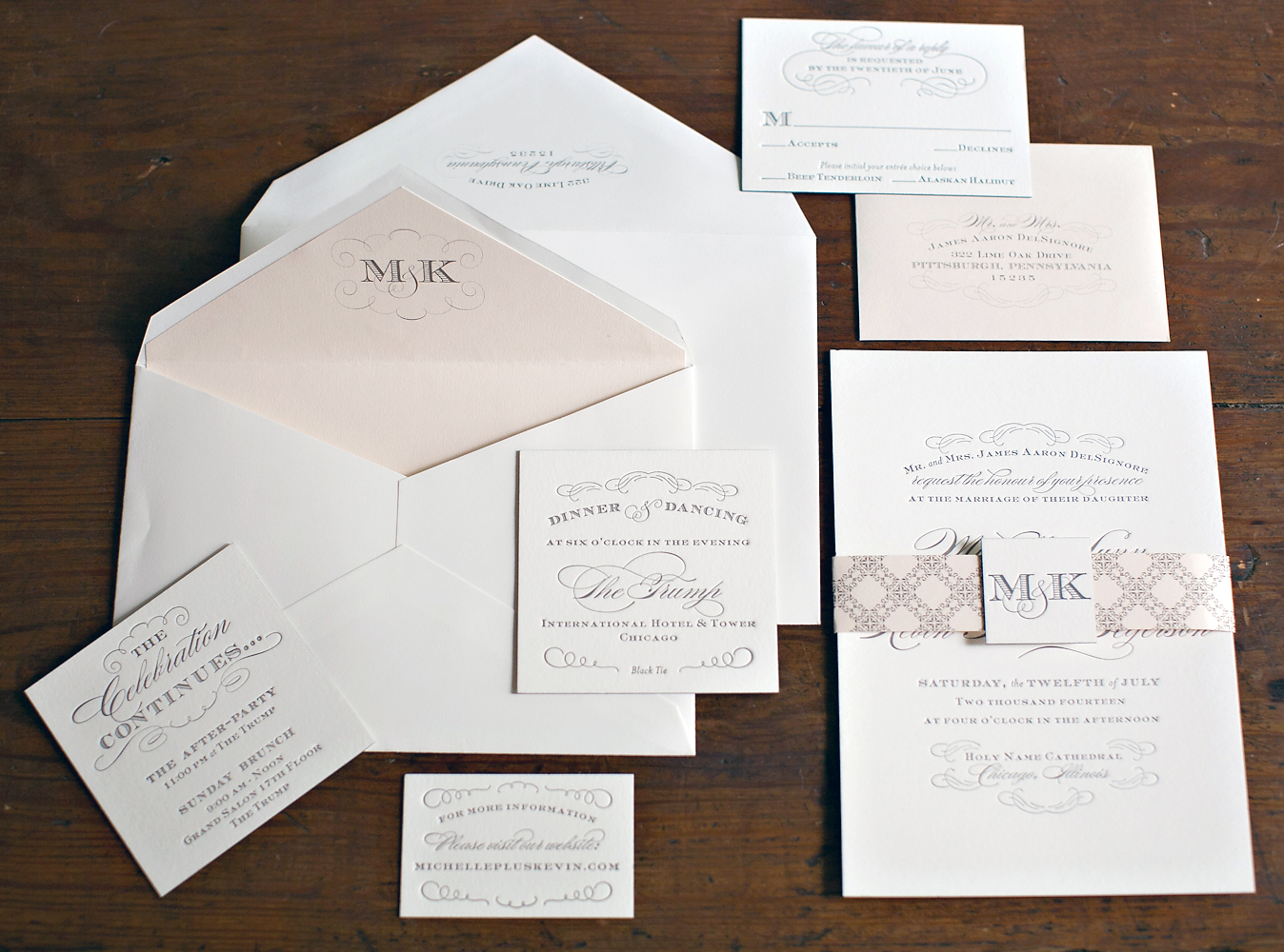 Nico and lala chicago trump hotel wedding invitation stopboris Image collections
