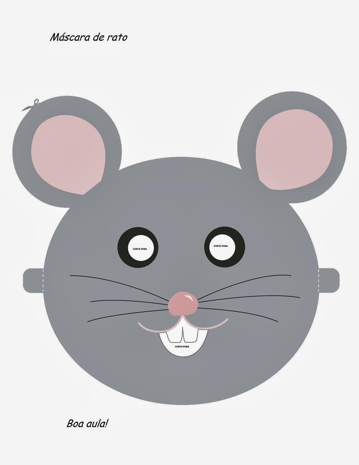 Máscaras de Animais - Rato