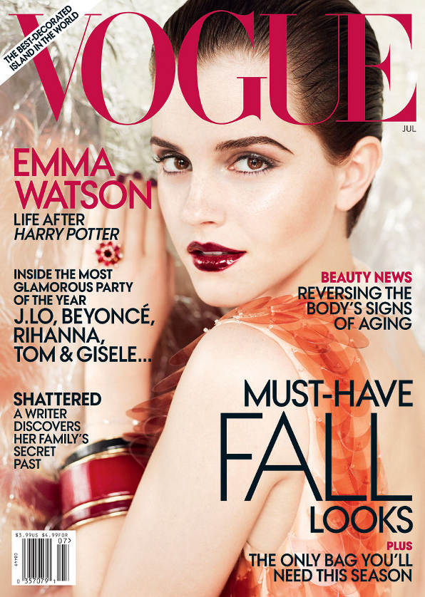 emma watson vogue shoot july 2011. Emma Watson in the July Cover