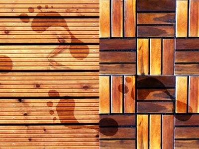 Terrassendielen für angenehmes Fußfeeling
