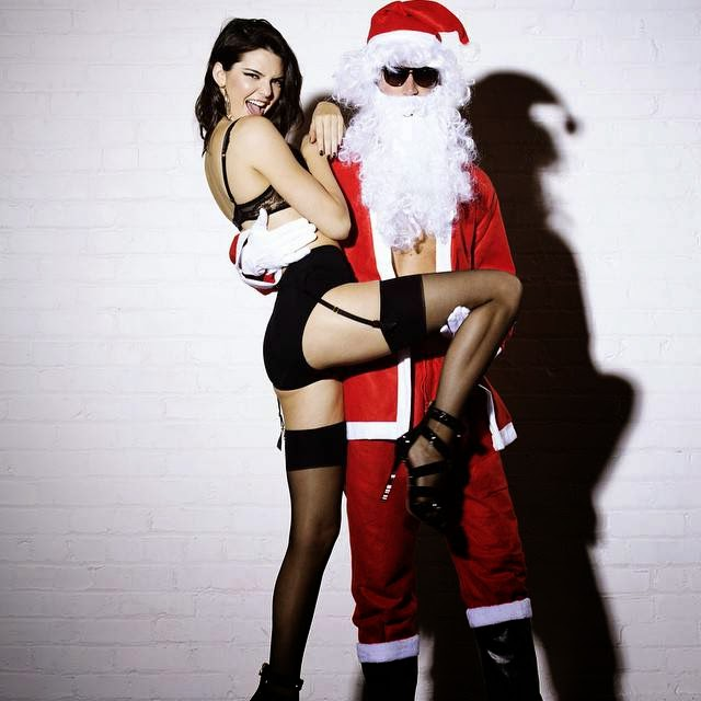 Kendall-Jenner-Love-Christmas-Photoshoot