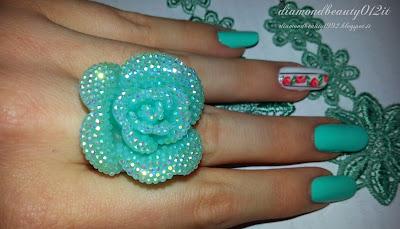 unghie primavera con decoro d'effetto 2015