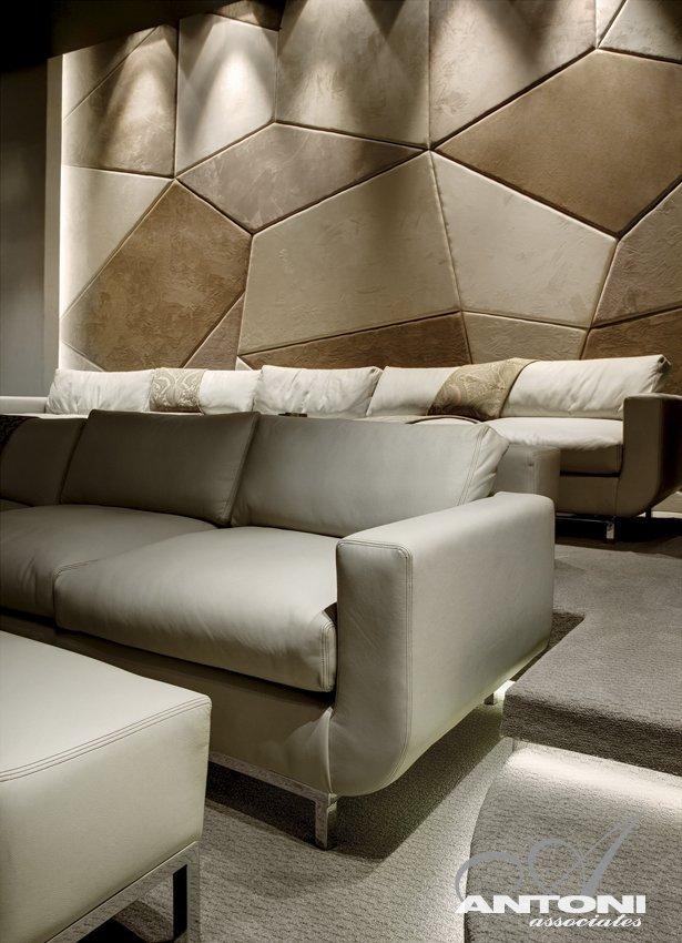 White sofa in Head Road 1843 by Antoni Associates