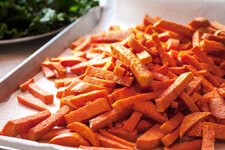 "It is almost impossible for me to say ""no"" to a plate of  sweet potato or yam fries."