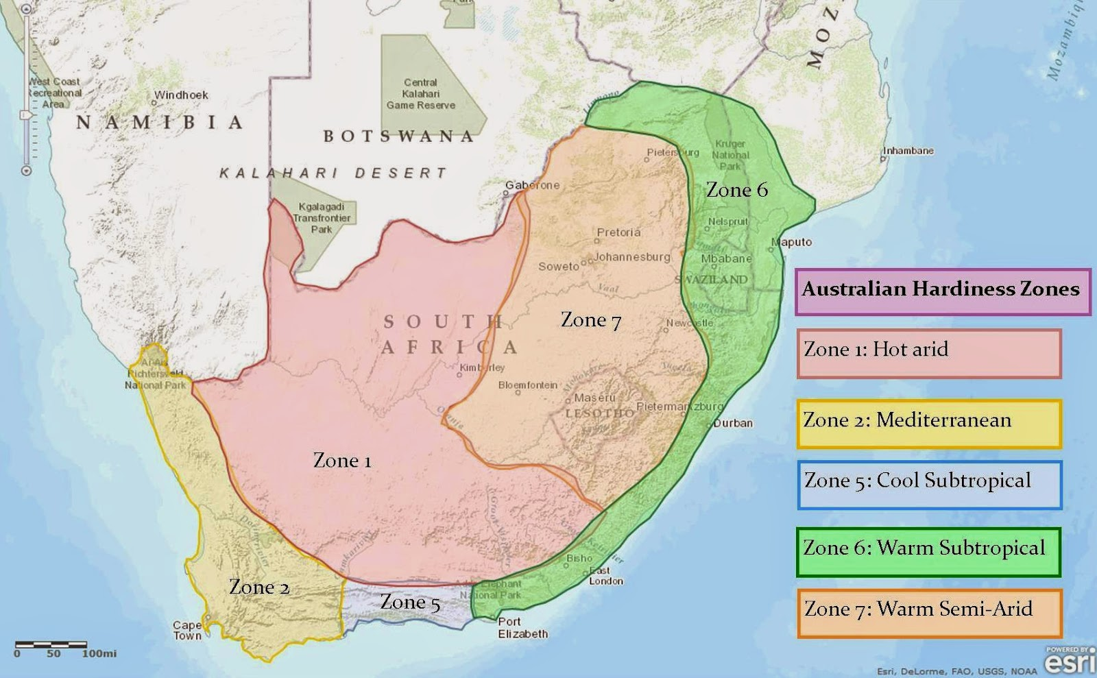South Africa Climate Zone Map