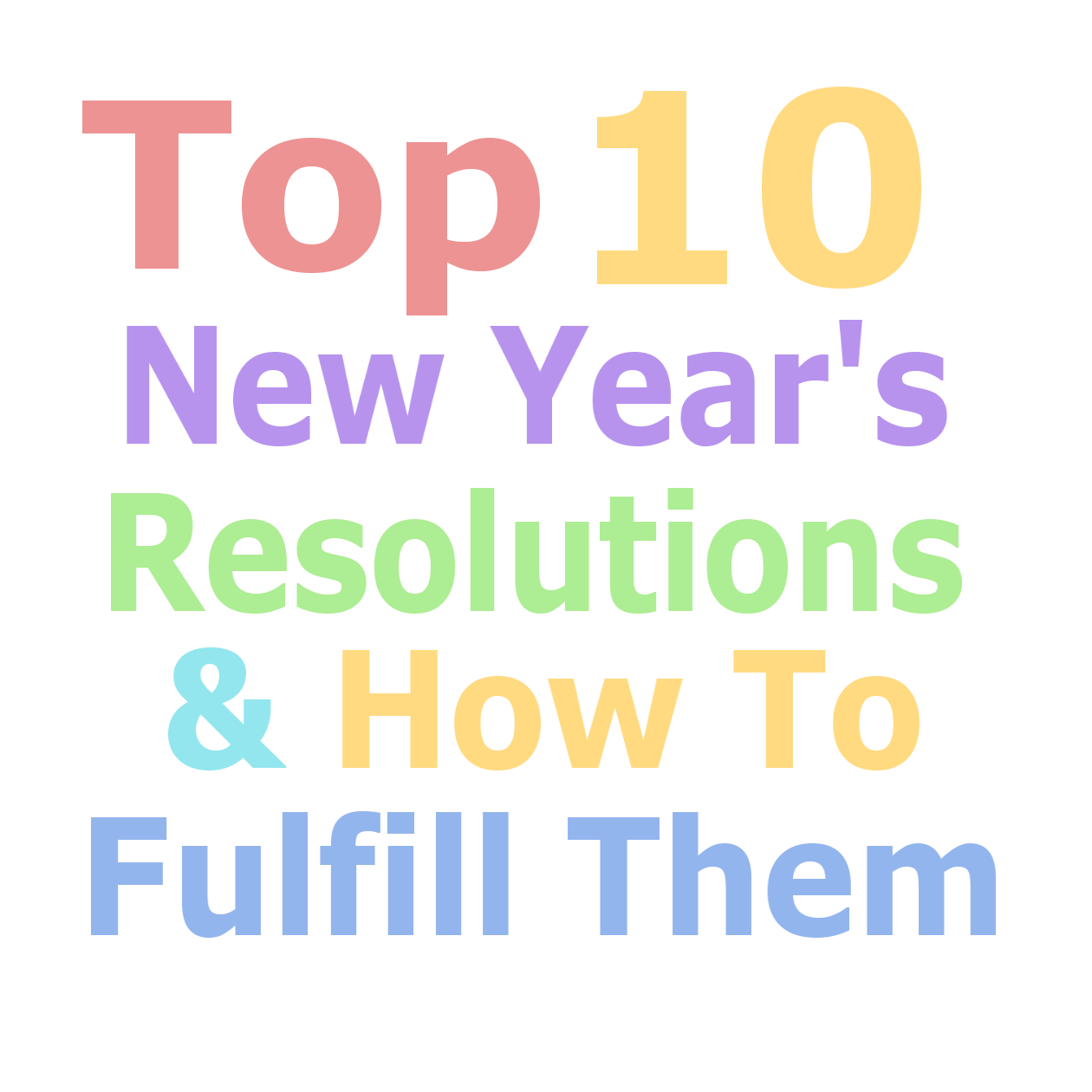 top 10 new years resolutions Top ten new year's resolutions and how to start them have you ever wondered what everyone else was committing to for the new year have a look at our top 10 and see if yours made the cut to help you get the ball rolling, we've included some easy ways to help get you started 1 improve your fitness.