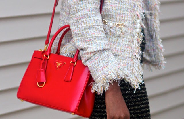trend alert - red bags, prada small red tote
