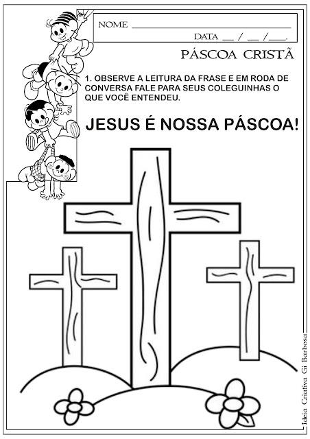 Atividade Páscoa Cristã Educação Infantil