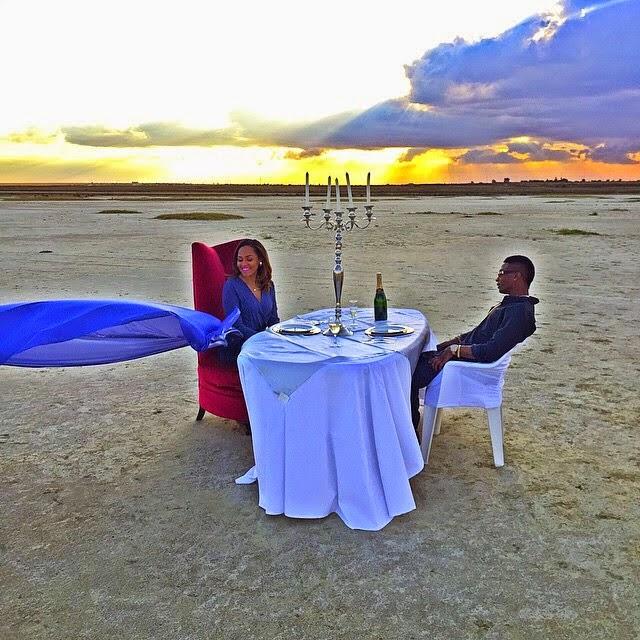 Wizkid Treats Girlfriend Tania Omotayo To A Romantic Dinner