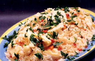 Arroz com bacalhau light