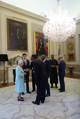 4 Photos Of President Buhari And The Queen Of England At The CHOGM in Malta