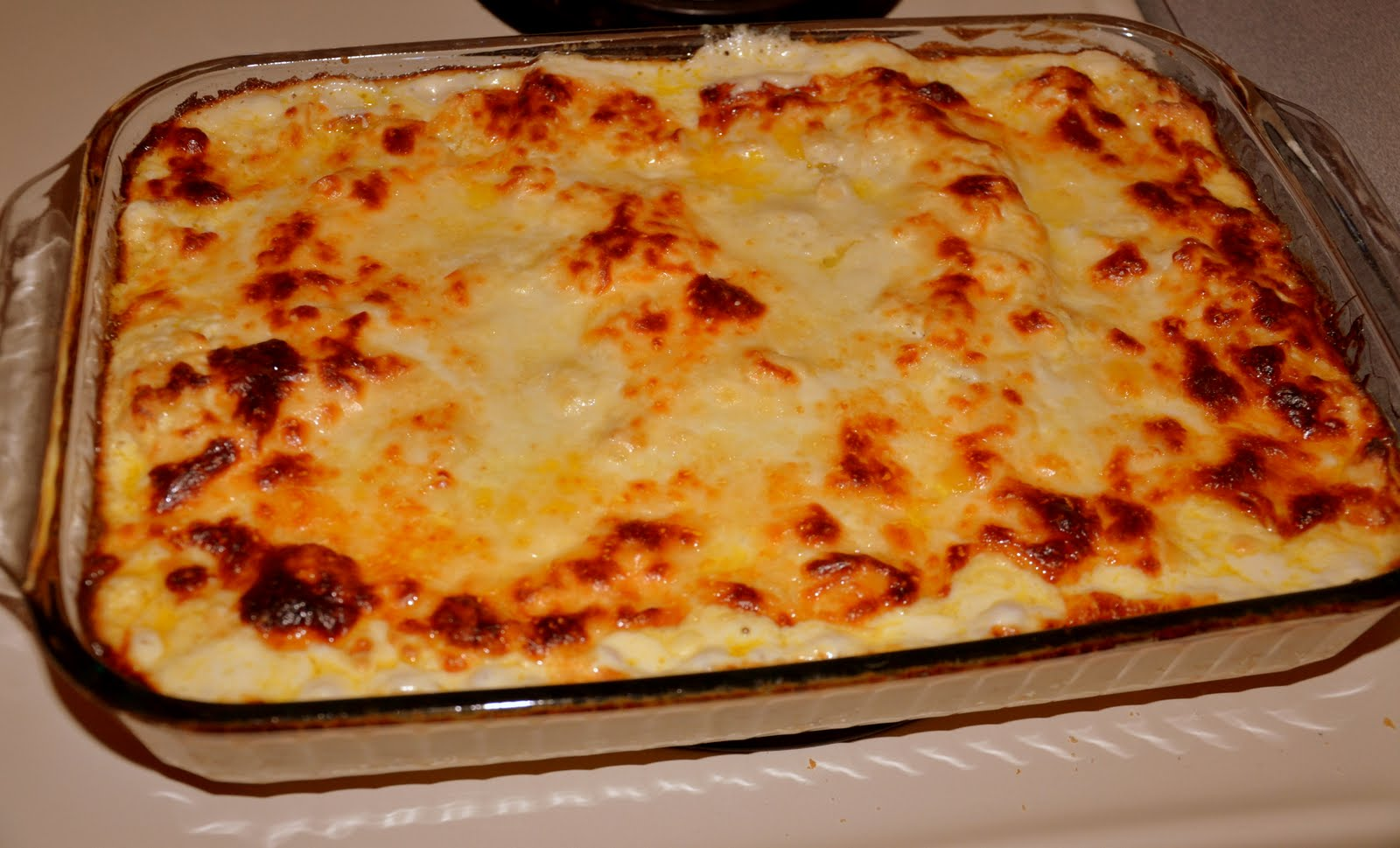 White Cheese Chicken Lasagna Recipe — Dishmaps