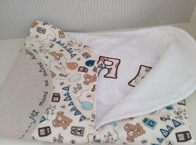 Arrullo artesanal tela algodón y felpa de toalla