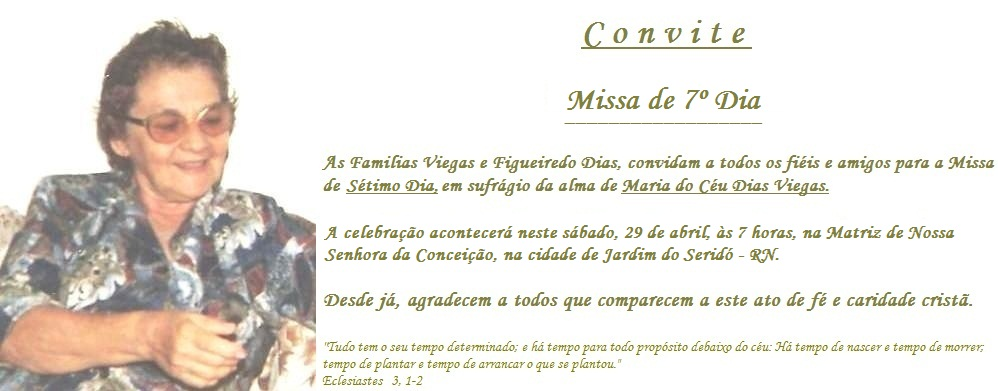 MISSA DE 7   DIA  MARIA DO C  U DIAS VIEGAS