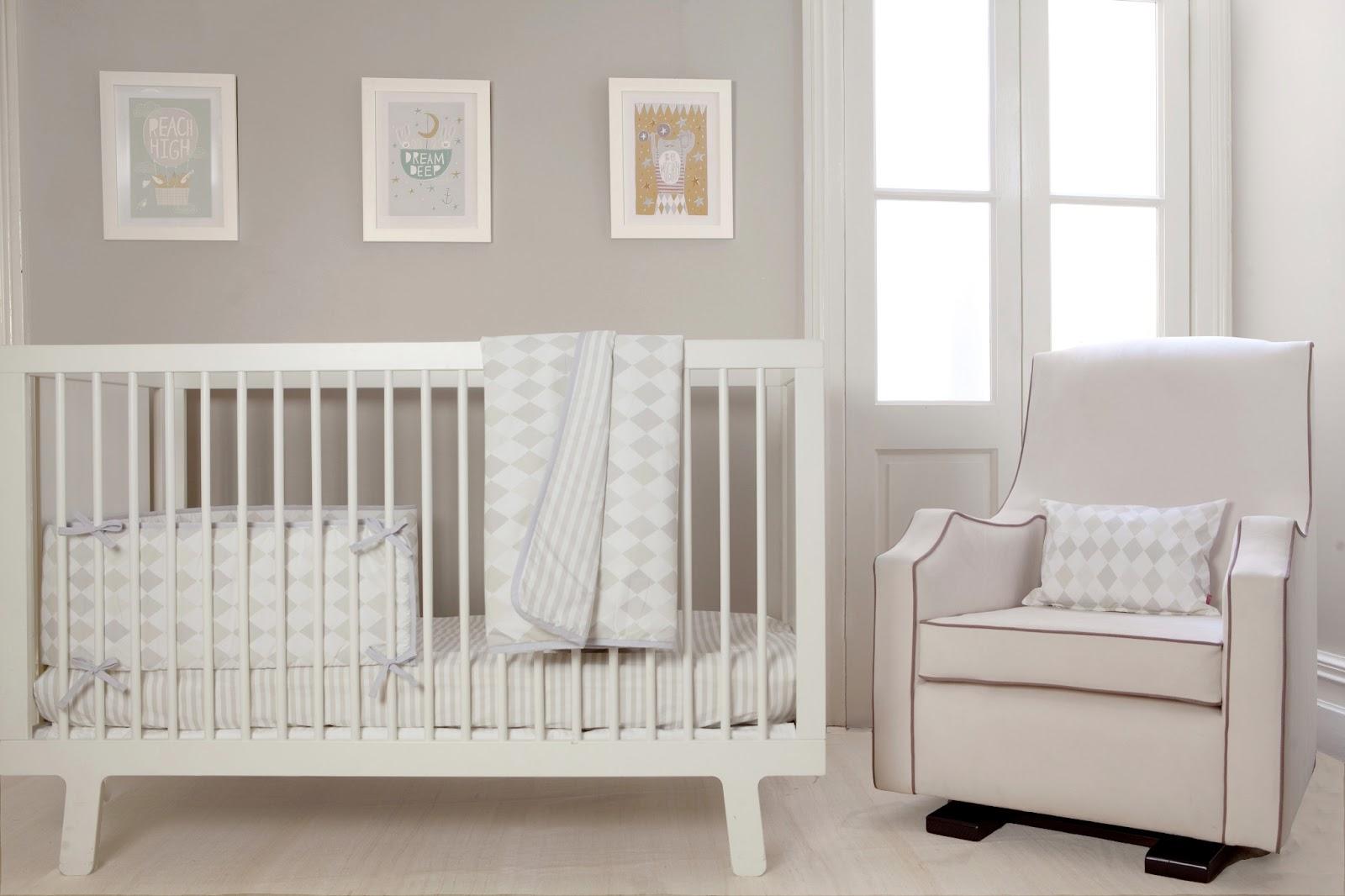 Olli Ella Harlequin Dusk Cot Bed Set
