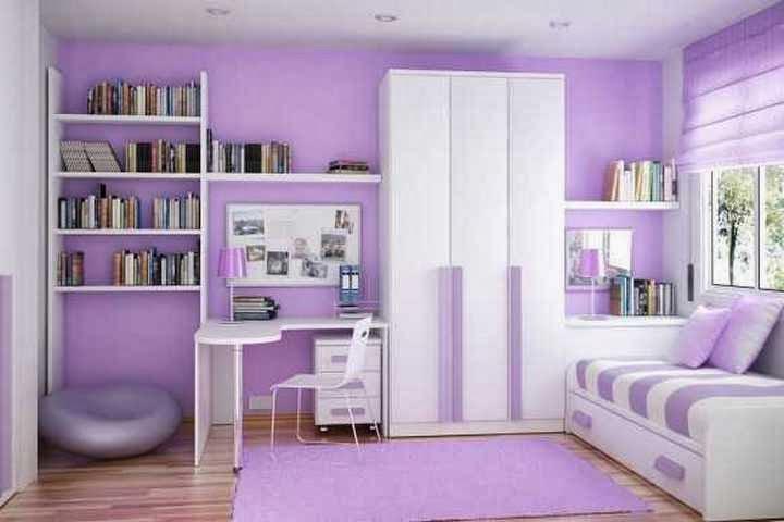 Rumah minimalis cat ungu
