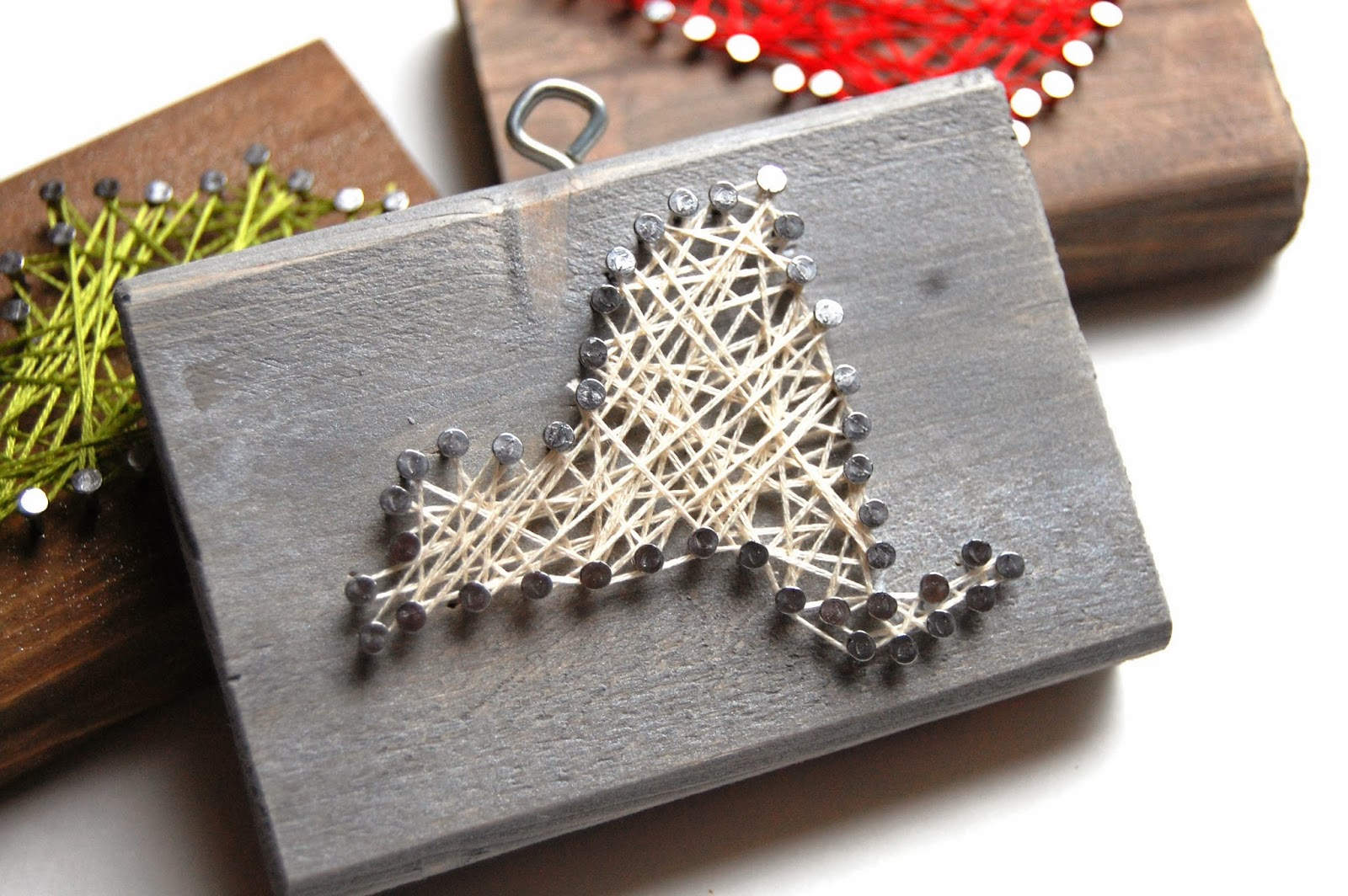Nail Art Ideas state nail string art : Done is Better than Perfect: Rustic nail and string art state ...