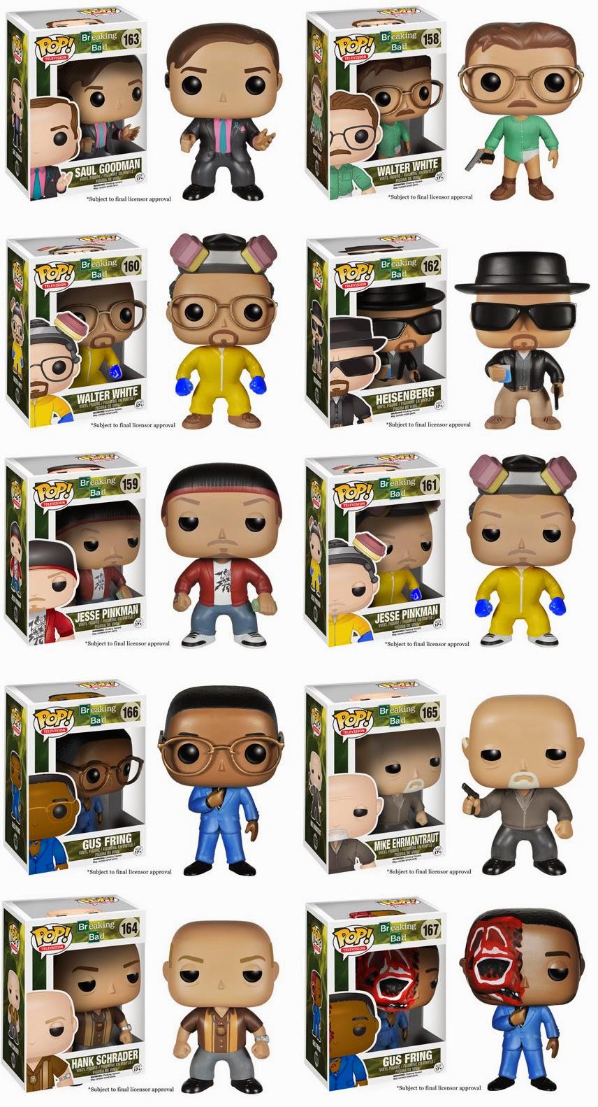 Collecting Toyz Breaking Bad Pop Vinyl Figures