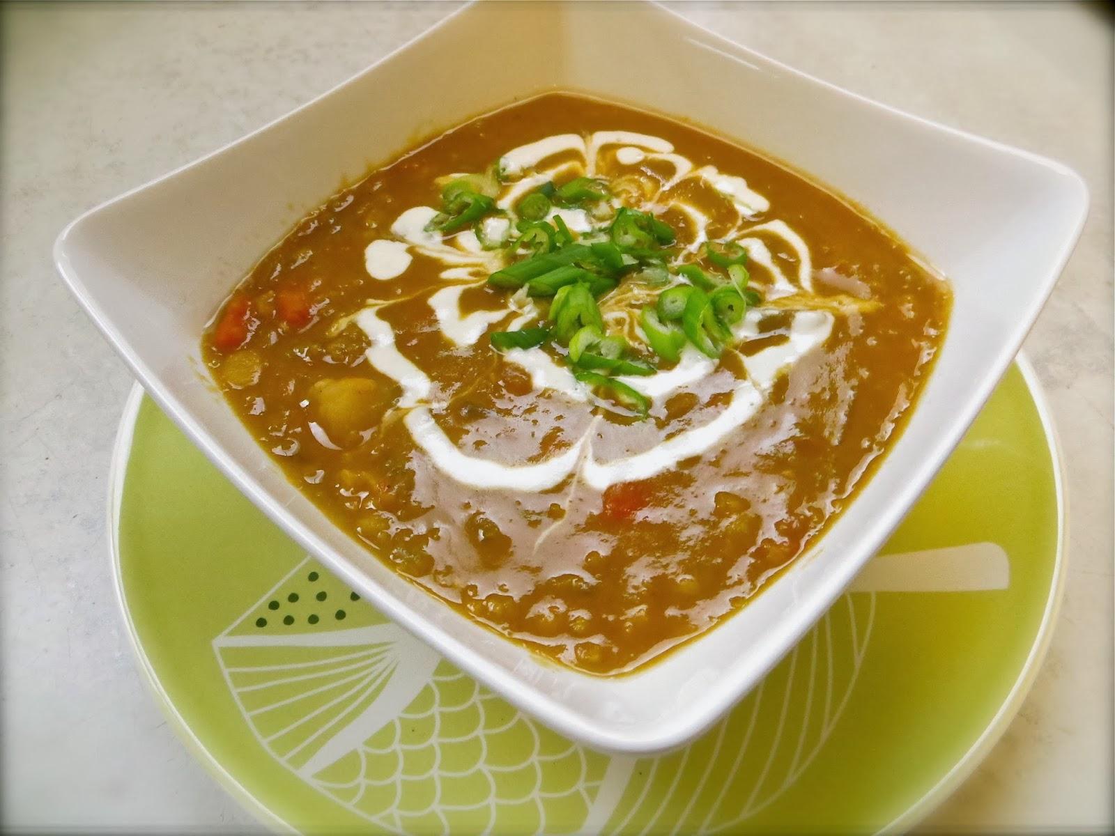 yellow split pea soup with smoked paprika