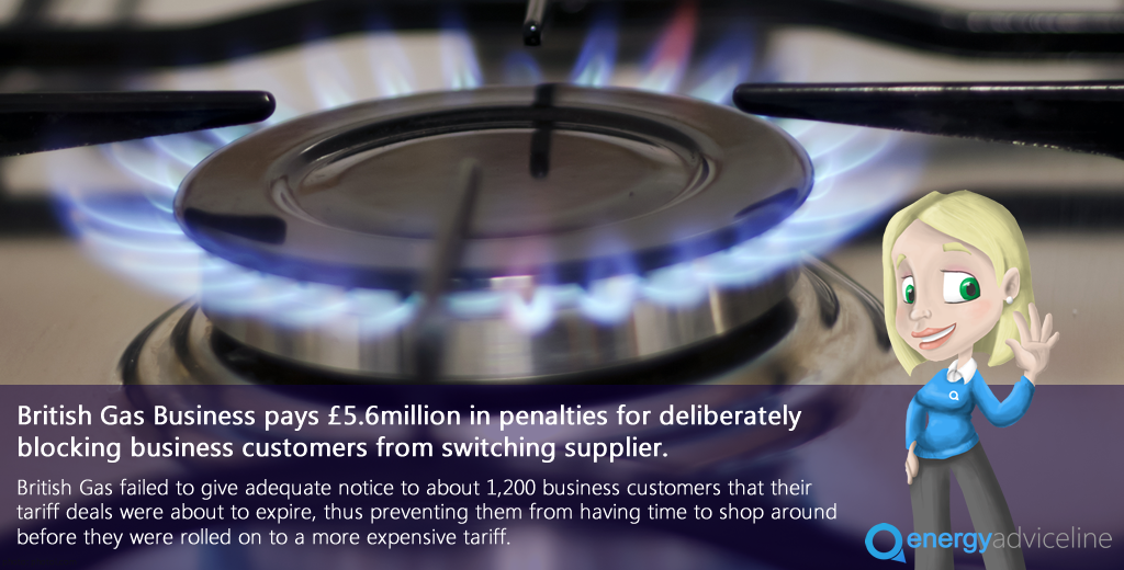 Energy Advice Line welcomes British Gas penalties