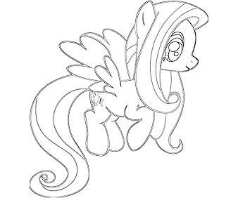 #8 Fluttershy Coloring Page