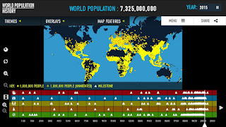 World Population History Interactive Map