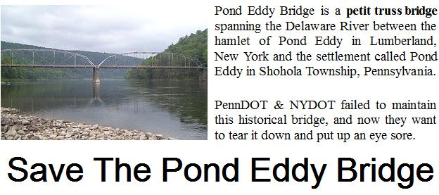 Save the Pond Eddy Bridge