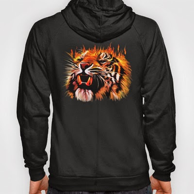 Fire Power Tiger hoodies