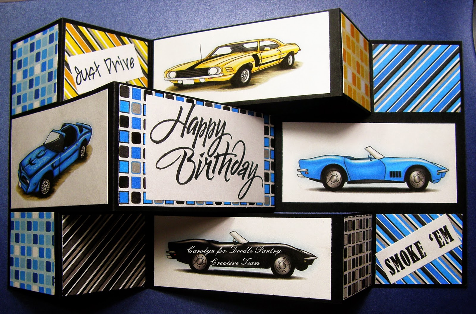 Luv My Cards Masculine Classic Corvette Cars At Doodle Pantry
