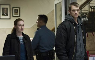 Mireille Enos and Joel Kinnaman in The Killing, series cancelled by AMC