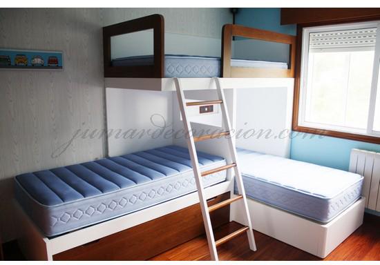 Jumar decoraci n dormitorio juvenil 4 camas - Dormitorios 2 camas ...