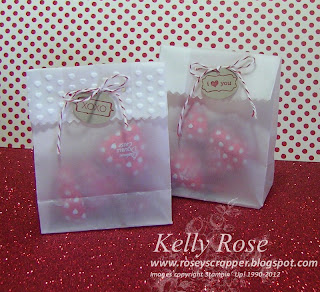 My Little Valentine by Stampin' Up! Treat bags