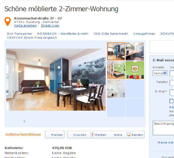 uhlandstra e 20 70182 stuttgart mitte gegen wohnungsbetrug against rental scammers. Black Bedroom Furniture Sets. Home Design Ideas