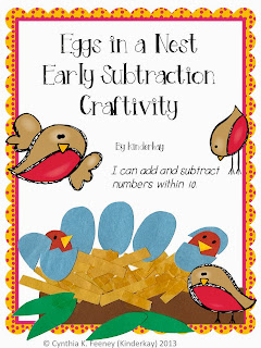 http://www.teacherspayteachers.com/Product/Eggs-in-a-Nest-Subtraction-Craftivity-672669