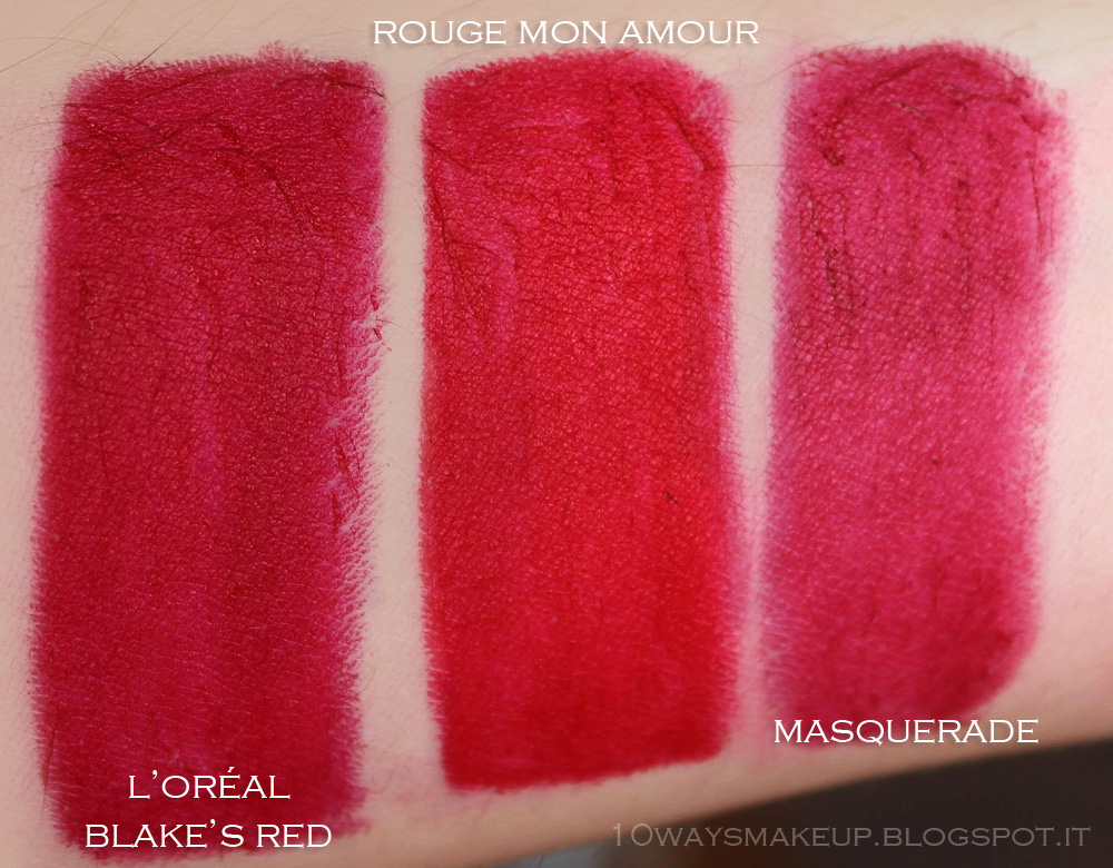 Nabla Diva Crime Rouge Mon Amour swatches