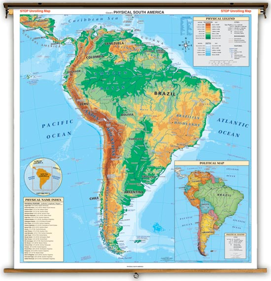 Physical Features Map Of Latin America 46