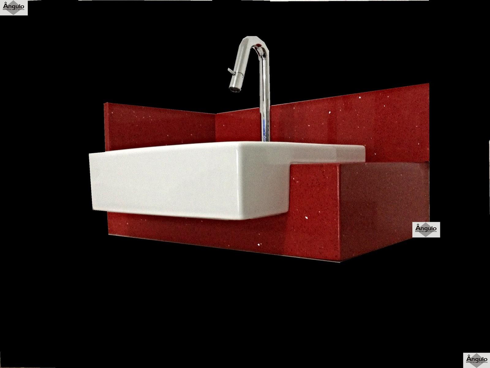 Bancada Banheiro Silestone Vermelho Stellar #030000 1600x1200 Bancada Banheiro Silestone Vermelho