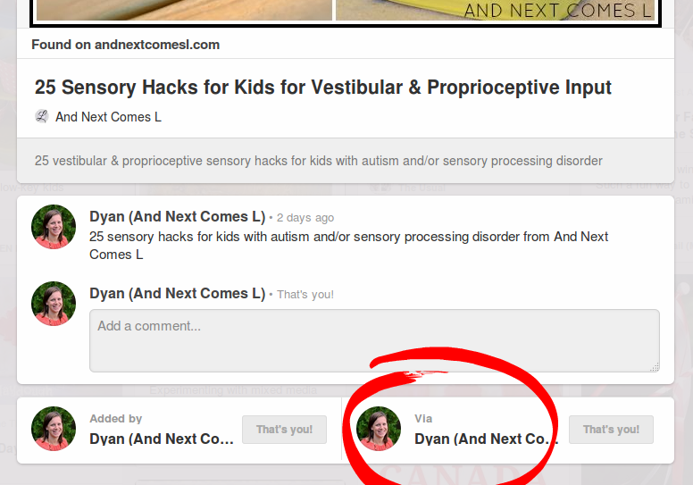 Pinterest tips for bloggers: Create a breadcrumb trail from And Next Comes L