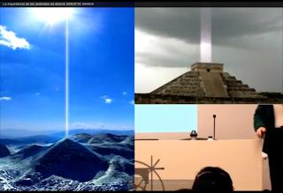 Rayos-energeticos-que-salen-del-apice-de-las-piramides-del-Sol-en-Bosnia-y-la-de-Kukulkan-en-Mexico
