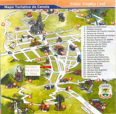 Mapa Turístico de Canela