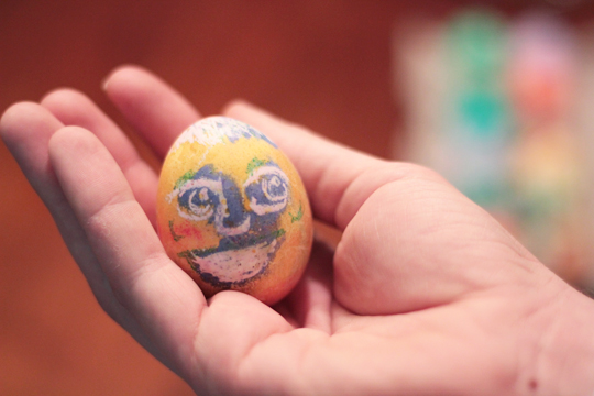 coloring eggs face drawing