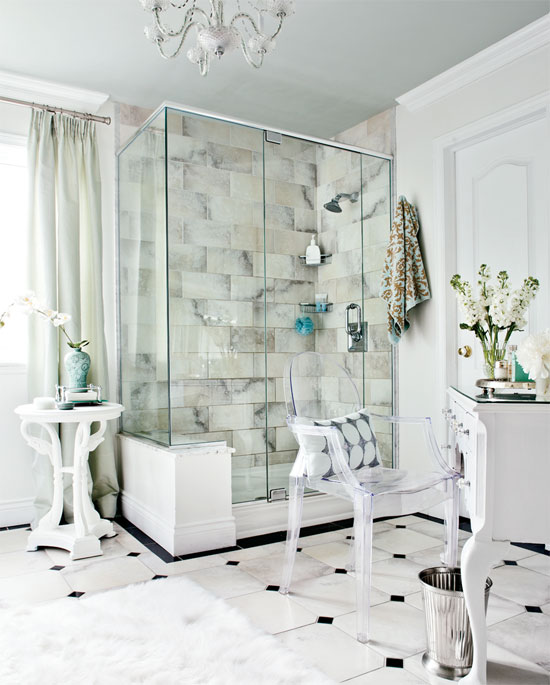 27 Fresh Black And White Tile Bathroom What Color Walls Graphics: Mix And Chic: Home Tour- A Classic Contemporary Home In Ottawa