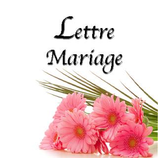 Lettre mariage meilleure amie