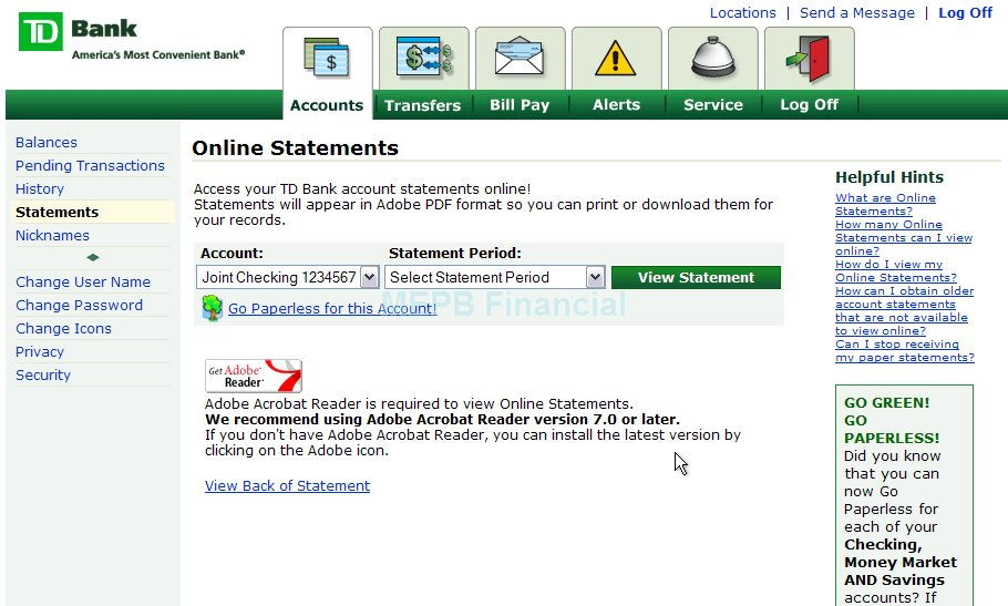online banking with td bank
