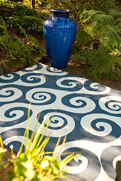 Blue Hello Area Rug - Summer Bright Accent