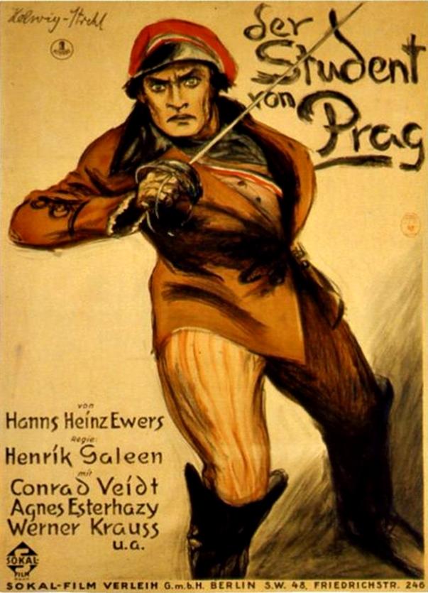 Cartel El estudiante de Praga (1926)