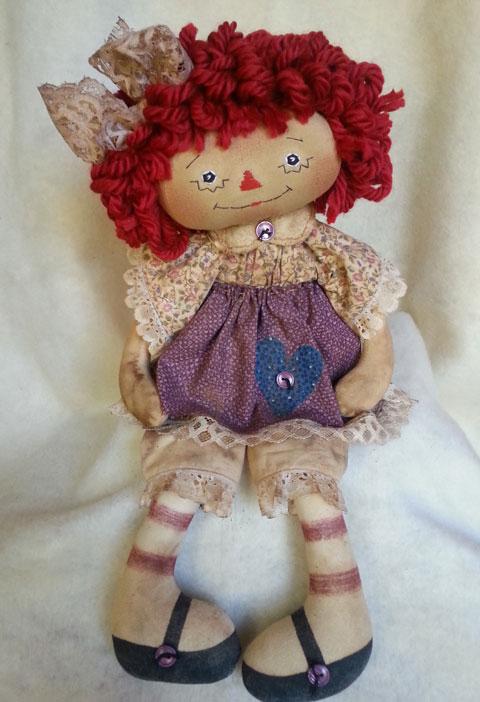 Cream & Purple Floral Annie #13