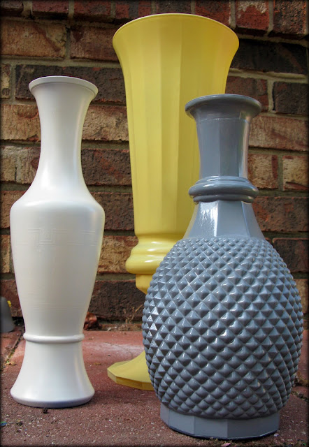 Janey Mac Spray Painted Glass Vases
