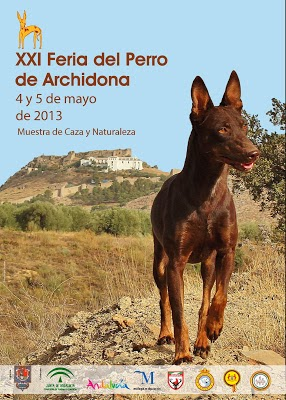 Cartel XXI Feria del Perro Archidona 2013